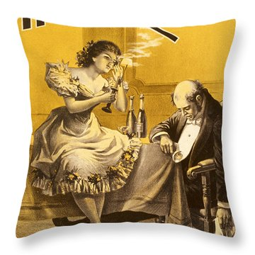 Dining A High Roller Girl After The Show Throw Pillow by Aged Pixel