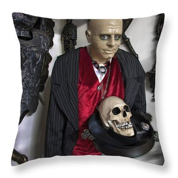 Dinner Is Served .... Throw Pillow by Daniel Hagerman