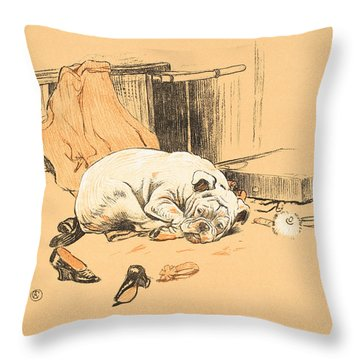 Disappointment At Not Finding The Chocolates Throw Pillow by Cecil Charles Windsor Aldin