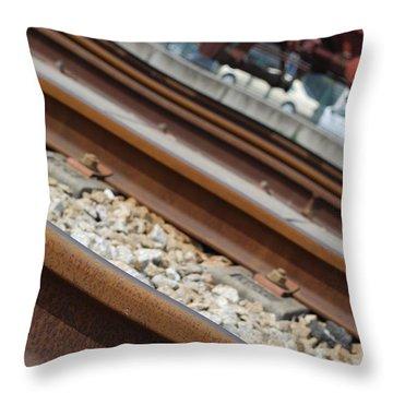 Dismantled Train Station Throw Pillow by Luis Alvarenga