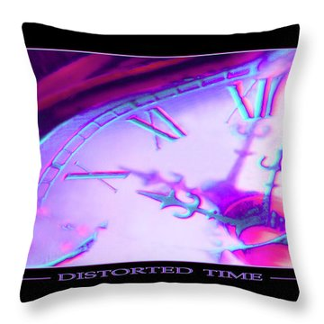 Distorted Time Throw Pillow by Mike McGlothlen