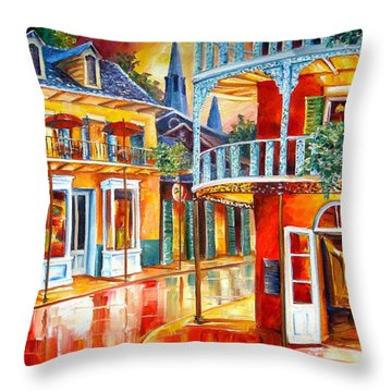 Divine New Orleans Throw Pillow by Diane Millsap