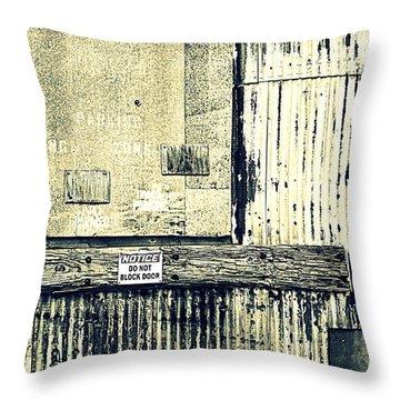 Do Not Block Door Throw Pillow by Valentino Visentini