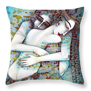 Do Not Leave Me Throw Pillow by Albena Vatcheva