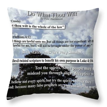 Do What Thou Wilt Throw Pillow by Bible Verse Pictures