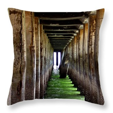 Dock Of The Bay Throw Pillow by Bill Gallagher