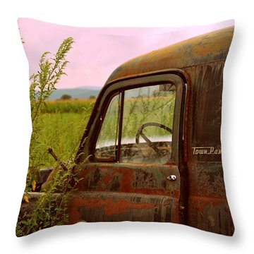 Dodge Throw Pillow by Jennie Kilcullen