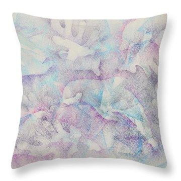 Dolphins At Play Throw Pillow by Veronica Rickard