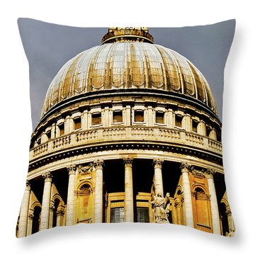 Dome Of St. Paul's Cathedral Throw Pillow by Christi Kraft