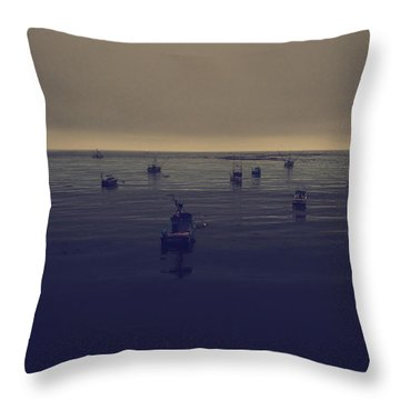 Done For The Day Throw Pillow by Laurie Search