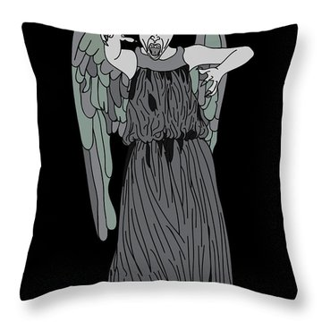 Dont Blink Throw Pillow by Jera Sky