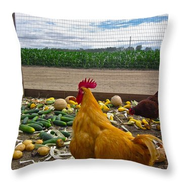 Don't Forget Your Veggies ... Throw Pillow by Gwyn Newcombe