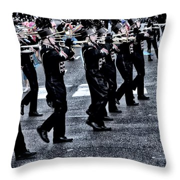 Don't Let The Parade Pass You By Throw Pillow by Bill Cannon