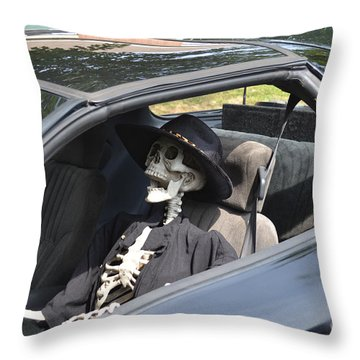 Don't Text And Drive Throw Pillow by Luther   Fine Art