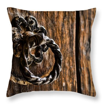 Door Knocker Throw Pillow by Heather Applegate