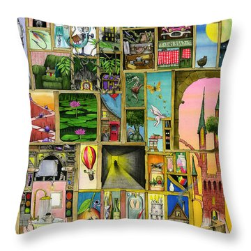 Doors Open Throw Pillow by Colin Thompson