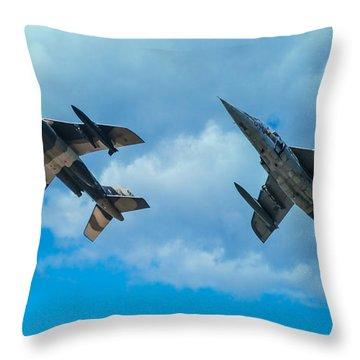 Dornier Alpha Jets Throw Pillow by Bianca Nadeau