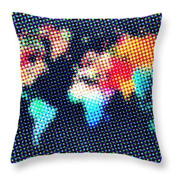 Dotted World Map 1 Throw Pillow by Naxart Studio