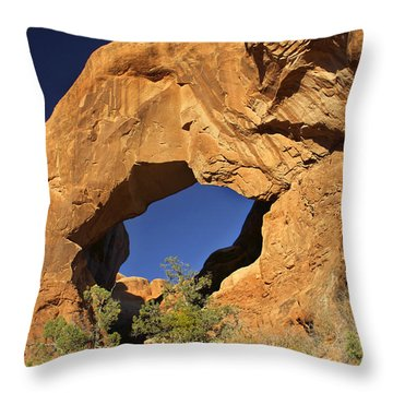 Double Arch - Backside Throw Pillow by Mike McGlothlen