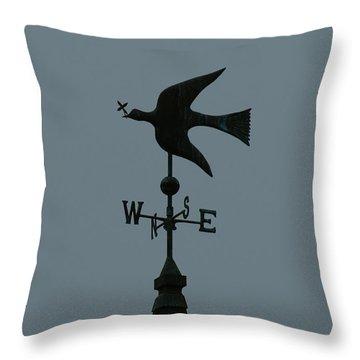 Dove Weathervane Throw Pillow by Ernie Echols