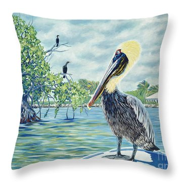 Down In The Keys Throw Pillow by Danielle  Perry