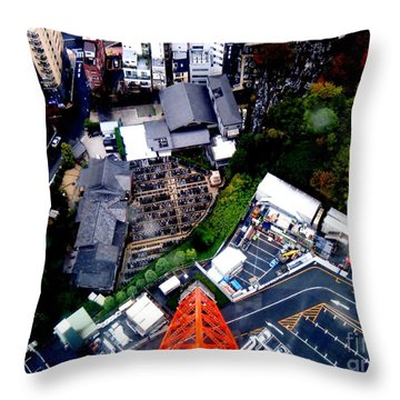 Falling Throw Pillow by Nelly Bacskay