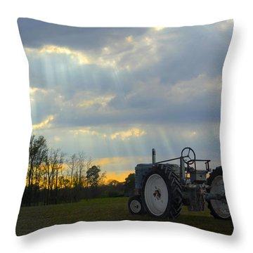Down On The Farm Throw Pillow by Mike McGlothlen