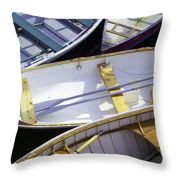 Downeast Gridlock Throw Pillow by Brent L Ander