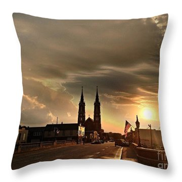Downtown After The Rain Throw Pillow by Garren Zanker