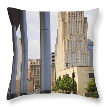Downtown Kansas City Throw Pillow by Mike McGlothlen