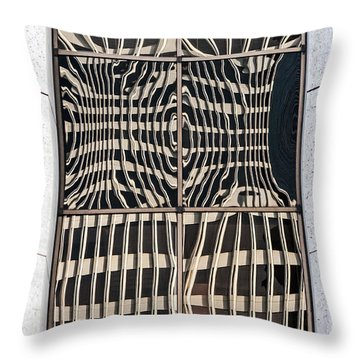 Downtown Reflection Throw Pillow by Kate Brown