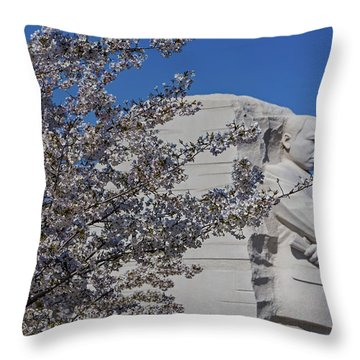 Dr Martin Luther King Jr Memorial Throw Pillow by Susan Candelario