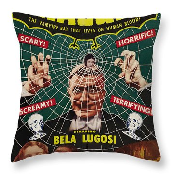 Dracula II Throw Pillow by Ubknown