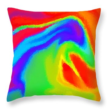 Dragon Throw Pillow by Chris Butler