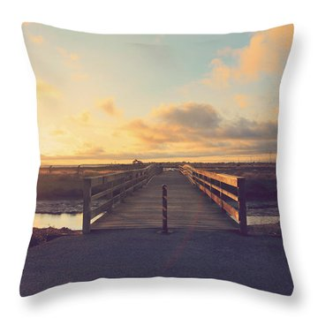 Drawing Nearer Throw Pillow by Laurie Search