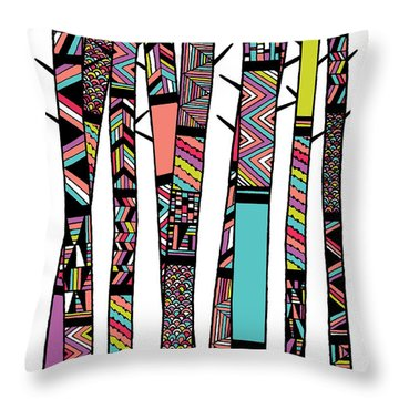 Dream Forest Throw Pillow by Susan Claire