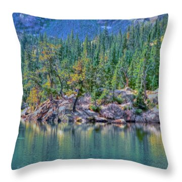 Dream Lake Throw Pillow by Kathleen Struckle