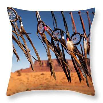 Dreamcatchers Throw Pillow by Jane Rix