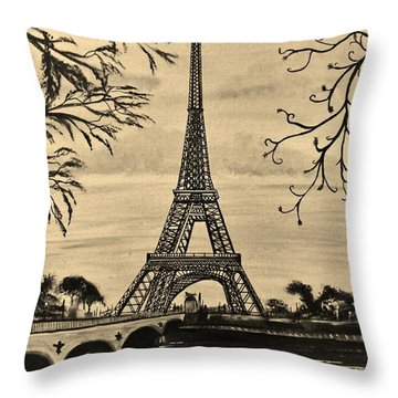 Dreaming Of Paris 2 Throw Pillow by Brigitte Emme