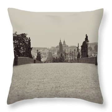 Dreaming Of Prague Throw Pillow by Ivy Ho
