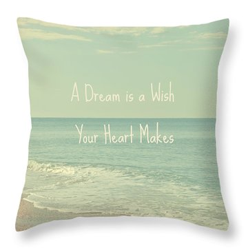Dreams And Wishes Throw Pillow by Kim Hojnacki