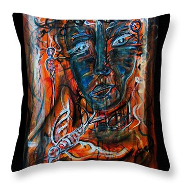 Dreamsequence 4 - Freedom Taking A Hike Throw Pillow by Mimulux patricia no