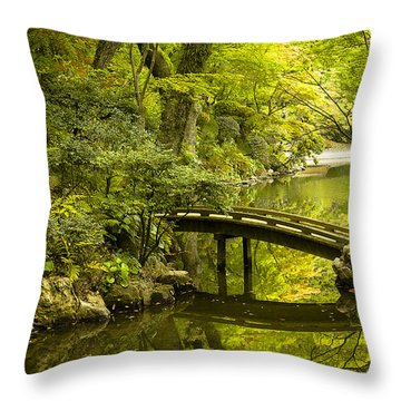 Dreamy Japanese Garden Throw Pillow by Sebastian Musial