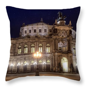 Dresden Semperopera Throw Pillow by Steffen Gierok