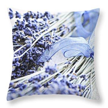 Dried Lavender Throw Pillow by Elena Elisseeva