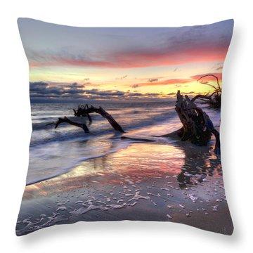 Drifter's Dreams Throw Pillow by Debra and Dave Vanderlaan