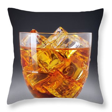 Drink On Ice Throw Pillow by Carlos Caetano