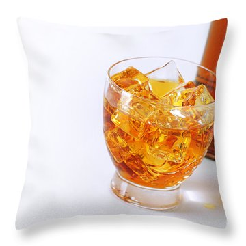 Drink On The Rocks Throw Pillow by Carlos Caetano