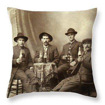 Drinking Buddies Throw Pillow by Jon Neidert