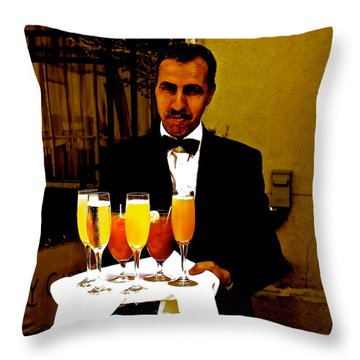 Drinks Anyone? Throw Pillow by Christy Gendalia